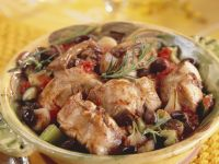 Seared Rabbit with Olives and Rosemary recipe