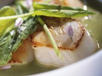 Herby Broth with Seafood recipe
