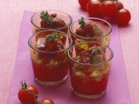 Seared Steak Cubes with Tomatoes and Rice recipe