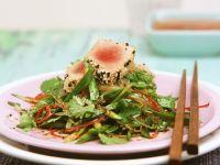 Seared Tuna and Pea Salad recipe