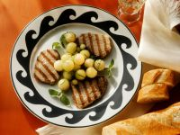 Seared Tuna with Fresh Melon and Lemon Balm Vinaigrette recipe