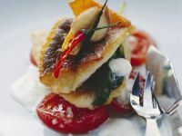 Seared Zander with Thai Basil, Ginger, and Buttermilk Foam recipe