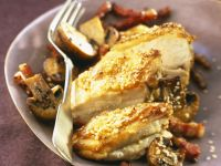 Seeded Poultry with Pancetta and Funghi recipe