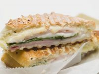 Seeded Toasted Sandwich with Cheese and Ham recipe