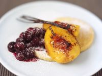 Semolina Circles with Fruit recipe