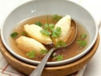 Broth with Semolina Dumplings recipe