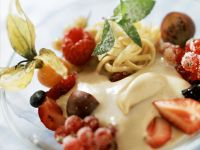Semolina Pudding with Berries and Mint recipe