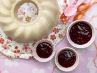 Semolina Pudding with Berry Sauce
