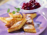 Semolina Slices with Cherry Compote recipe