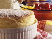 Semolina Souffle with Cherry Compote recipe