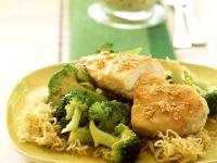 Sesame Chicken Breast with Broccoli recipe