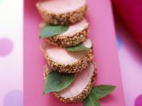 Sesame-Crusted Pork Tenderloin with Asian Dipping Sauce recipe
