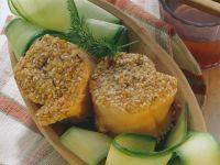 Sesame Salmon Rolls with Zucchini recipe