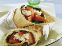 Sesame Wrap with Spinach, Mozzarella, and Tomatoes recipe