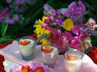 Set Creamy Puddings with Fruit recipe