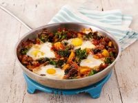 Baked Vegetables with Eggs recipe