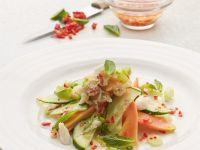 Sharp Salad with Cucumber, Crab, Papaya recipe