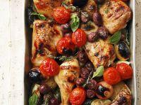 Sheet Pan Chicken and Tomato Bake recipe