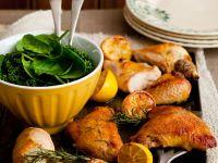 Sheet Pan Lemon Chicken with Salad recipe