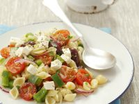 Shell Pasta Salad with Tomatoes and Feta recipe