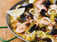 Shellfish and Squid Rice Dish recipe