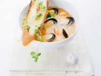 Shellfish Broth with Toasts recipe