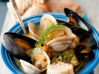 Shellfish Stew with Mussels, Cockles and Haddock recipe