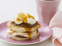 Short-stack Pancakes with Banana and Syrup recipe