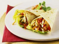 Shredded Vegetable and Chicken Wraps recipe
