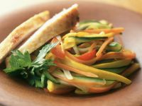Shredded Veggie and Chicken Fry recipe