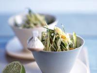 Shredded Zucchini with Fish recipe