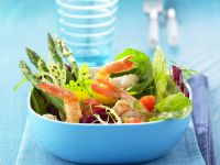Mixed Leaf and Prawn Salad Bowl recipe