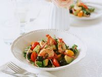 Shrimp and Avocado with Cherry Tomatoes recipe