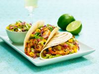 Shrimp and Mango Salsa Soft Tacos recipe