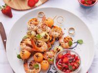 Shrimp and Melon Kebabs recipe