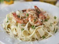 Shrimp and Pea Pasta recipe