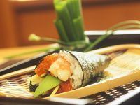 Shrimp and Red Caviar Hand Rolls recipe