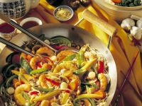 Shrimp and Vegetable Saute with Rice recipe