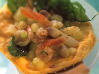 Shrimp and White Asparagus Omelette recipe