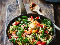 Shrimp Arugula Pasta recipe