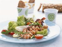 Shrimp Kebabs with Asparagus Salad recipe