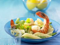 Shrimp Pasta with Green Asparagus recipe