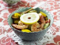 Shrimp, Pepper, and Cucumber Salad recipe