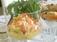 Shrimp Salad with Egg and Pineapple recipe