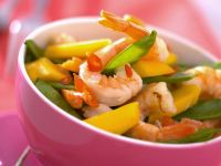 Shrimp Salad with Mango and Snow Peas recipe