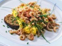 Shrimp Scrambled Eggs with Black Bread recipe