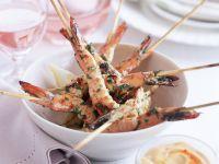 Shrimp Skewers with Spicy Dip recipe
