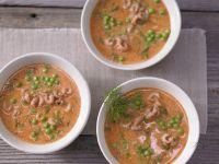 Shrimp Soup with Peas recipe