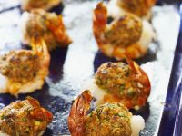 Shrimp Stuffed with Rice Balls recipe