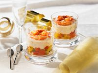 Shrimp, Tomato, and Goat Cheese Parfait recipe